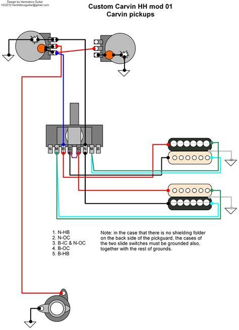 hermetico guitar wiring diagram carvin custom hh 01