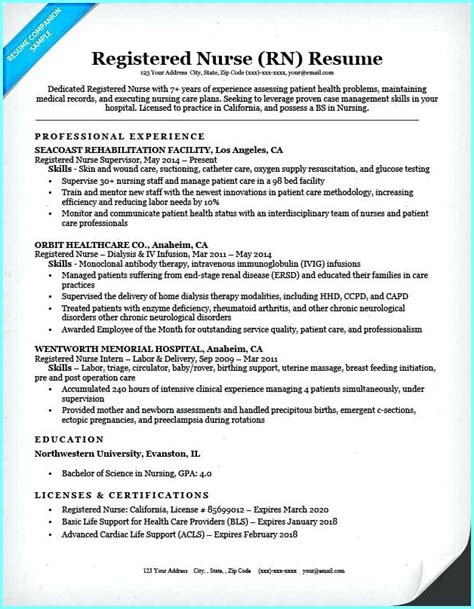 Resume Registered sle resume for registered without experience