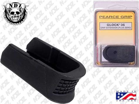 pearce grip glock 1 4 magazine floor base plate finger extension g36
