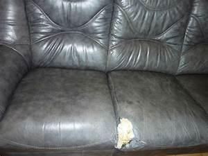 le canape en cuir paperblog With trou canapé simili cuir