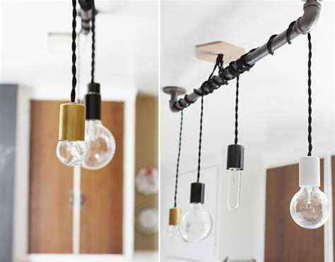 pendant hanging from pipe so there you it a simple