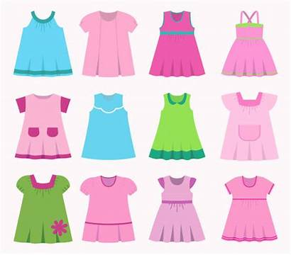 Vector Dresses Summer Different Clip Illustration Childrens