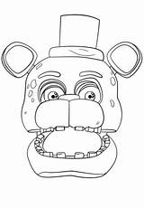 Freddy Fnaf Golden Drawing Coloring Pages Getdrawings sketch template