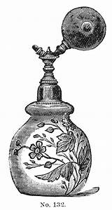 Victorian Clip Art - 3 Perfume Bottles with Atomizers ...