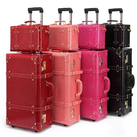 Retro Bag Luggage Set Suitcase Women Men Travel Bags