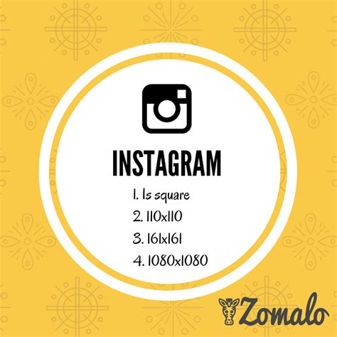 Instagram Photo Dimensions Instagram Photo Size Zomalo