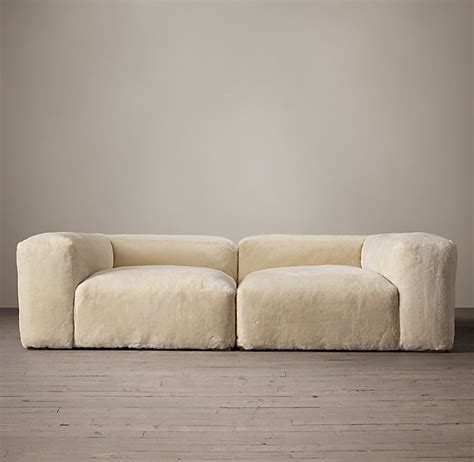restoration hardware knock sofa rooms