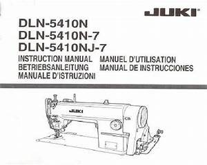 Juki Industrial Sewing Machine Instruction Manuals