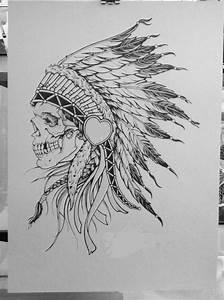 skull in headdress tattoo | Tattoos & Piercings ...