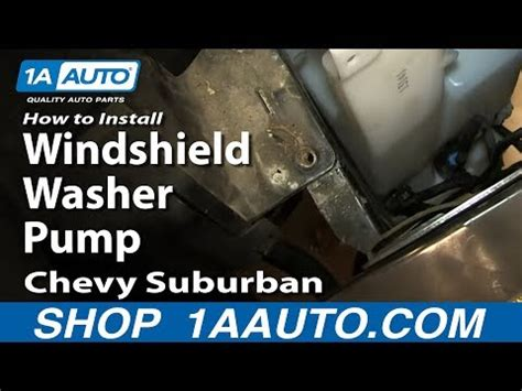 automotive air conditioning repair 2010 chevrolet suburban windshield wipe control how to install replace windshield washer pump 2000 06 chevy suburban tahoe gmc yukon youtube