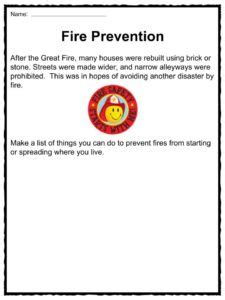 great fire  london   facts worksheets  kids
