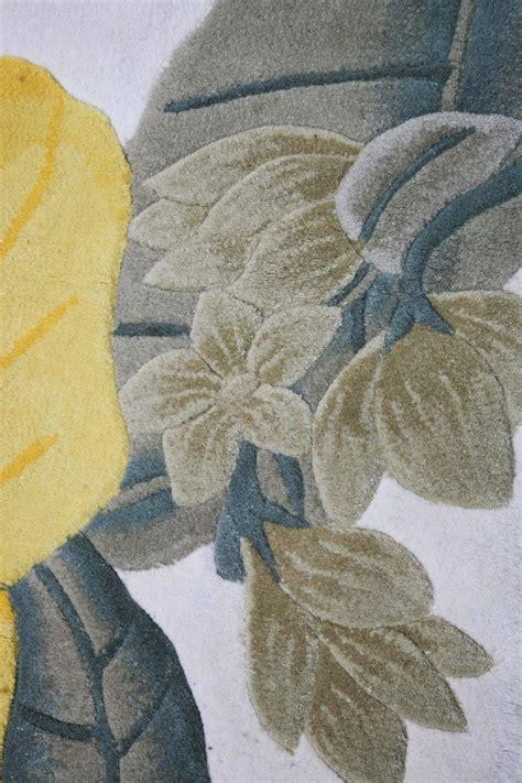 Handmade Tropical Themed Sculpted Wool Rug, Hollywood