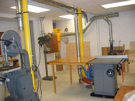 woodworking hobby shop dust collection air handling systems