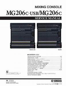 Yamaha Mg206c Mg206c Usb Mixing Console Service Manual