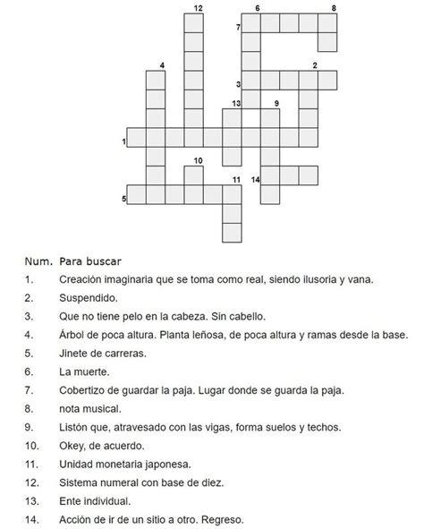 Crucigrama para imprimir nº 10 (con imágenes