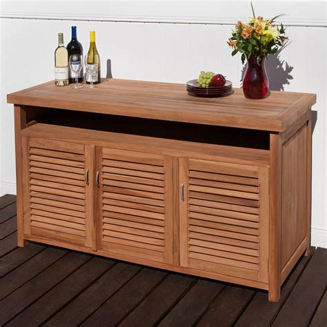 Teak Sideboard Buffet by Teak Outdoor Buffet With Storage Outdoor