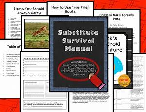 Substitute Survival Manual  Handbook  Lesson Plans  And