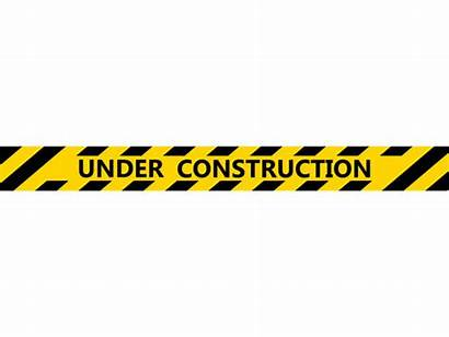 Construction Under Tape Sign Vector Clip Banner