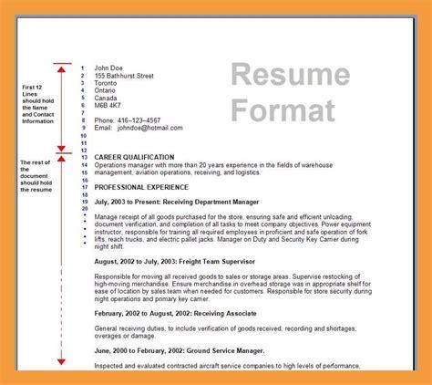 Standard Resume Format by Standard Resume Format Romeo Landinez Co