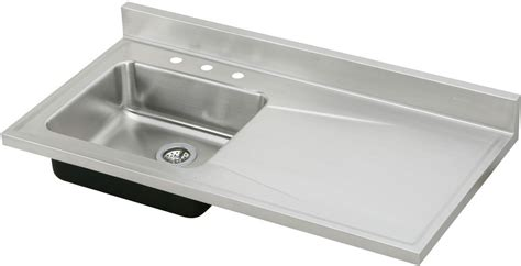kitchen sink with drainboard and backsplash elkay s4819l 48 inch single bowl stainless steel sink top 9585