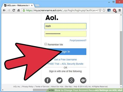 How To Change Your Account Recovery Settings On Aol Mail