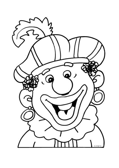 Zwarte Piet Gezicht Kleurplaat by Zwarte Piet Bij Blij Sinterklaas Kleurplaten