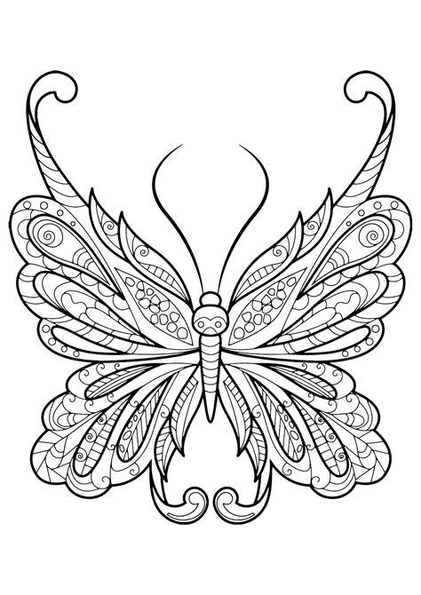 disegni da colorare per adulti farfalle insetti 9673 farfalle e insetti disegni da colorare