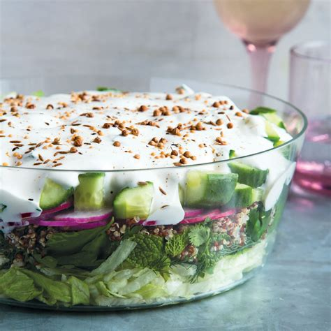 middle eastern  layer salad recipe kristin donnelly