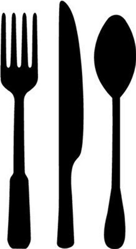 fork spoon knife vinyl wall art graphics lettering