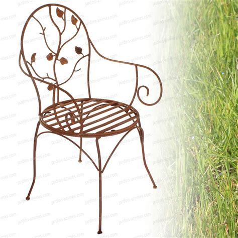 chaises en fer forgé chaise à fleurs en fer forgé mobilier de jardin