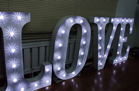 big light up letters secondhand prop shop illuminated letters large 3ft