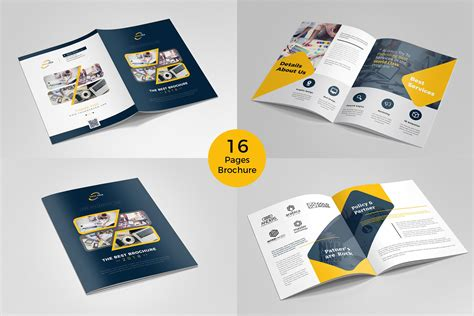 Brochure Template For Pages by Brochure Template 16 Pages Brochure Templates