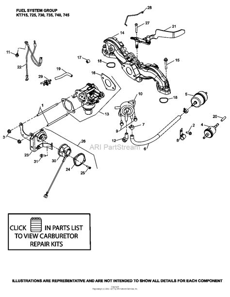 17 Hp Kohler Engine Diagram by Kohler Kt735 3049 Mtd 24 Hp 17 9 Kw Parts Diagram For