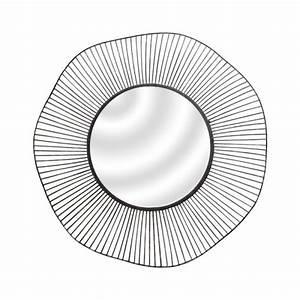 Miroir Rond Métal Noir : miroir rond noir l g ret ~ Teatrodelosmanantiales.com Idées de Décoration