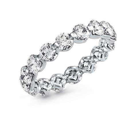 floating diamond eternity ring  platinum  ct tw