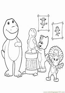 barney the dinosaur coloring pages - barney the dinosaur coloring pages picture to pin on