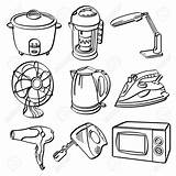 Clipart Electrical Fan Electric Appliances Drawing Appliance Cliparts sketch template