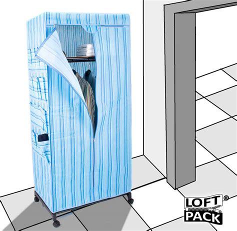 kleiderschrank aus stoff gro 223 er mobiler kleiderschrank aus stoff mit rollen stoffkleiderschrank xl blau ebay