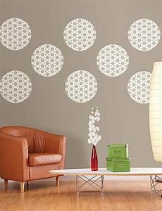 Diy living room wall decor idea with polka dots decoist