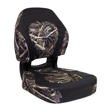 Torsa Trailhawk Camo Folding Boat Seat by Boat Seats Chairs And Benches By Wise