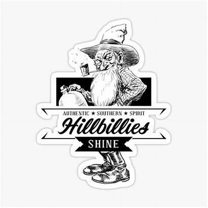 Hillbilly Stickers Hillbillies Southern Moonshine Sticker Shine