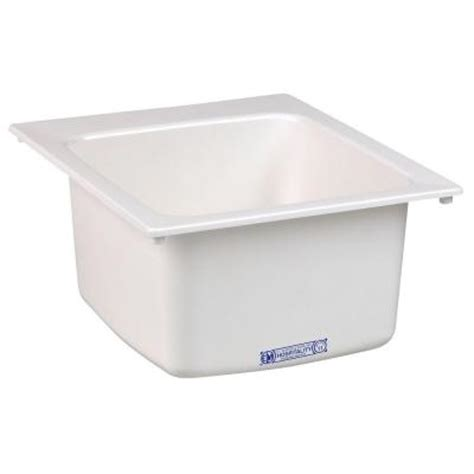 Mustee Utility Sink Home Depot by Mustee 17 In X 20 In Fiberglass Self Utility