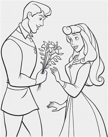 Coloring Princess Aurora Printable Pages Sleeping Beauty