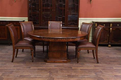66 inch round table solid walnut round dining table with self storing leaves