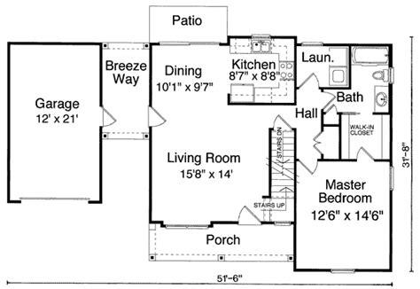 2 bedroom house floor plans single garage with breezeway 39094st architectural