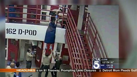 Deputy Intervenes As Suicidal Inmate Attempts To Jump From
