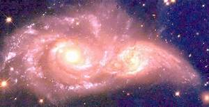 Collision of Two Galaxies (page 2) - Pics about space