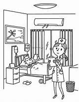 Nurse Coloring Printable Hospital Museprintables Helpers Doctor Preschool Printables Worksheets Cartoons Animals Worksheet Games Childrens Pdf Education Kindergarten sketch template