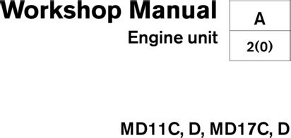 volvo penta mdcd mdcd marine engine workshop manual