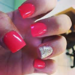 Cute acrylic nails sparkles and pink